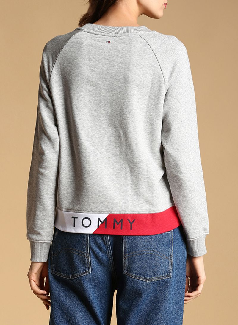38ccaa6f13d7 Shop Tommy Hilfiger Athletic Electra Sweatshirt Grey online in Dubai ...