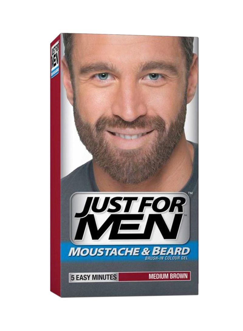 Shop Just For Men Moustache And Beard Color Gel 35 Medium Brown 30 ml  online in Dubai, Abu Dhabi and all UAE