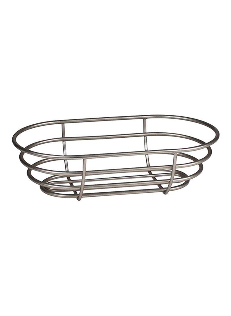 Shop Spectrum Euro Bread Basket Silver 7x12 5x3 5 inch