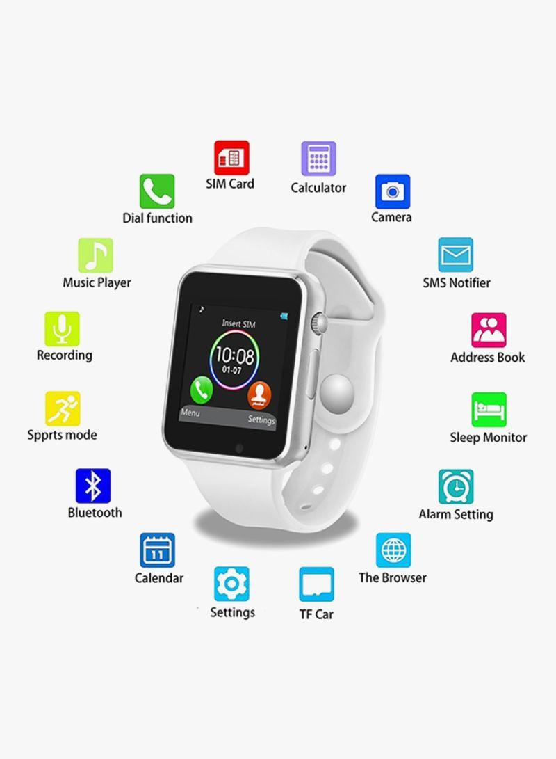 Shop Generic 380 mAh A1 Smartwatch White/Silver online in Dubai, Abu Dhabi  and all UAE