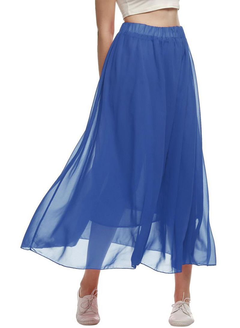 3f875c173b2fb Shop ACEVOG Full Length Elastic Pleated Chiffon Maxi Beach Skirt ...
