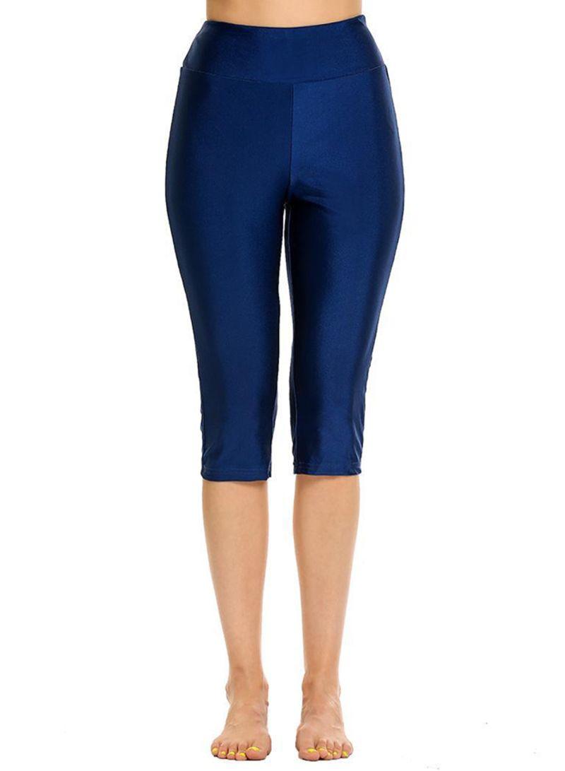 6615e4da8653a8 Shop zeagoo Stretch Tights Skinny Capri Leggings Blue online in ...