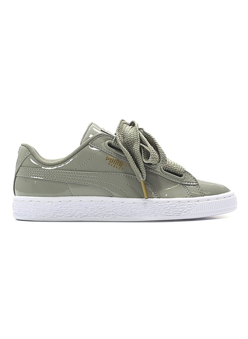 reputable site 44eb2 3d6f3 Shop Puma Basket Heart Patent Lace Up Sneakers online in ...