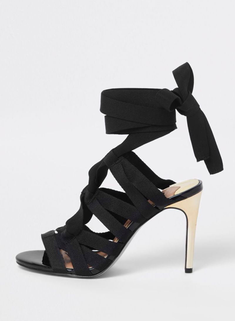 56e1d297b98 Shop RIVER ISLAND Wolfberry Cage Tie Up Sandal online in Dubai