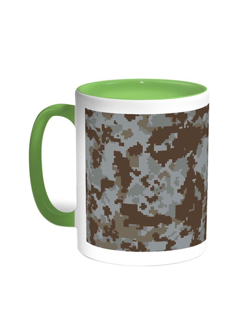 shop decalac army clothing printed coffee mug green white 11 ounce