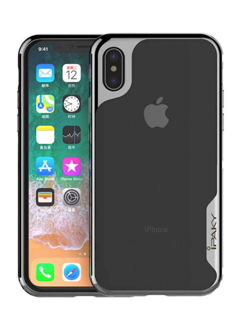 new products 607d1 69415 Shop IPAKY Anti-Knock Case Cover For Apple iPhone X Black/Silver online in  Dubai, Abu Dhabi and all UAE