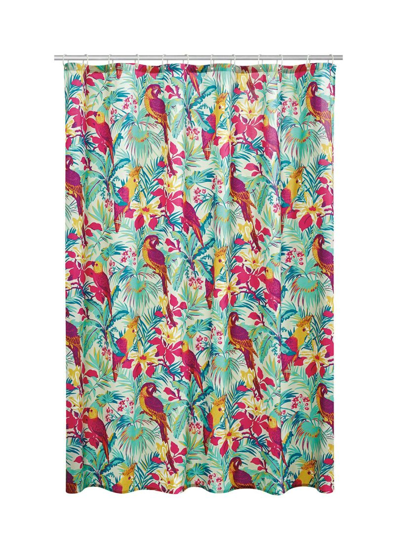Butterfly By Matthew Williamson Tropical Bird Print Shower Curtain Multicolour 180 X Centimeter