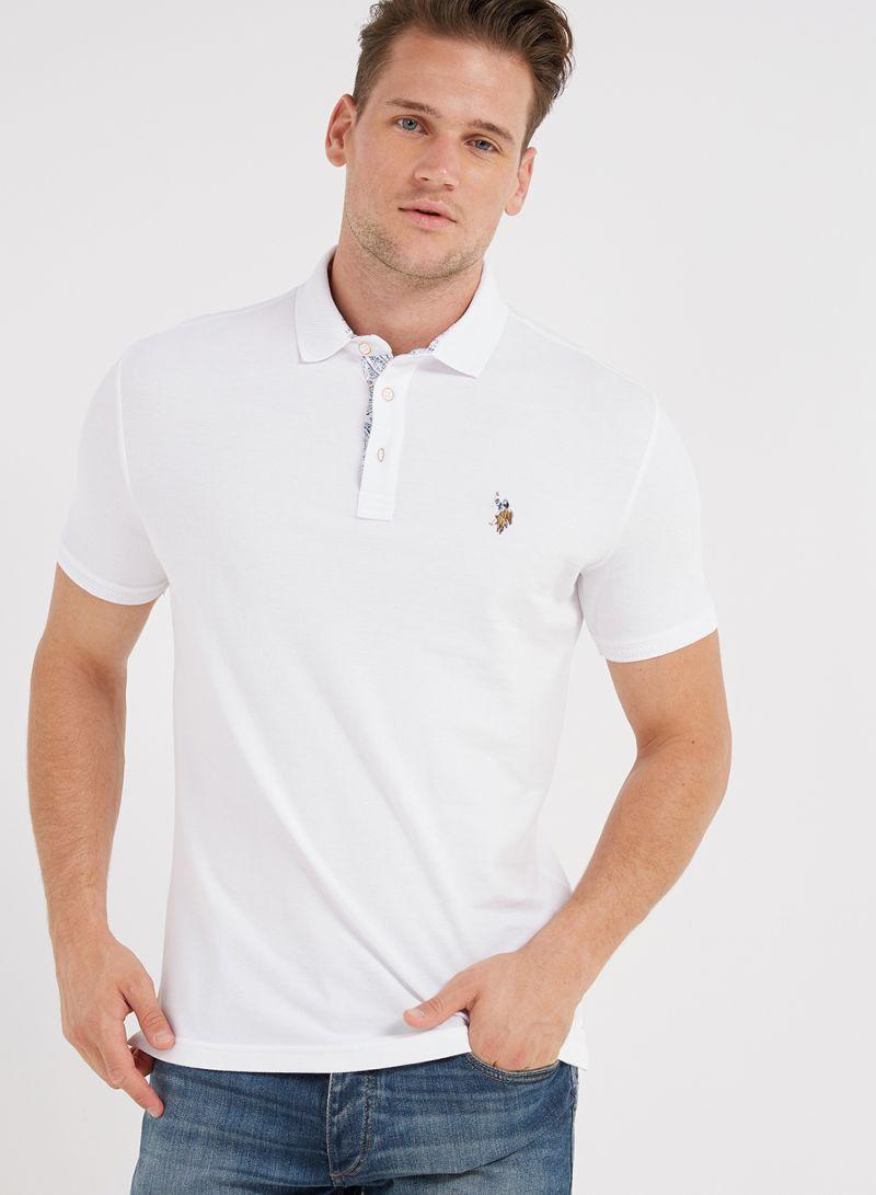 Shop U S Polo Assn Solid Polo T Shirt White Online In Dubai Abu