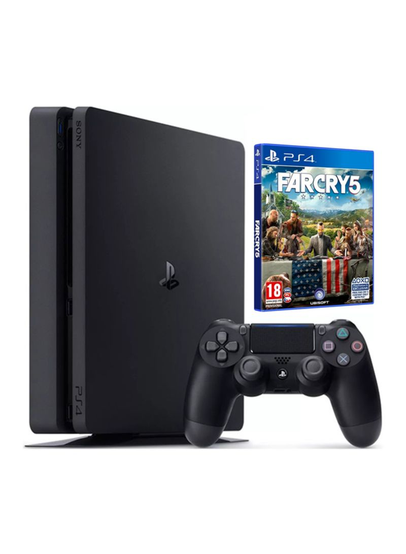 Shop Sony PlayStation 4 Slim 1TB Console With Far Cry 5 And Controller  online in Egypt