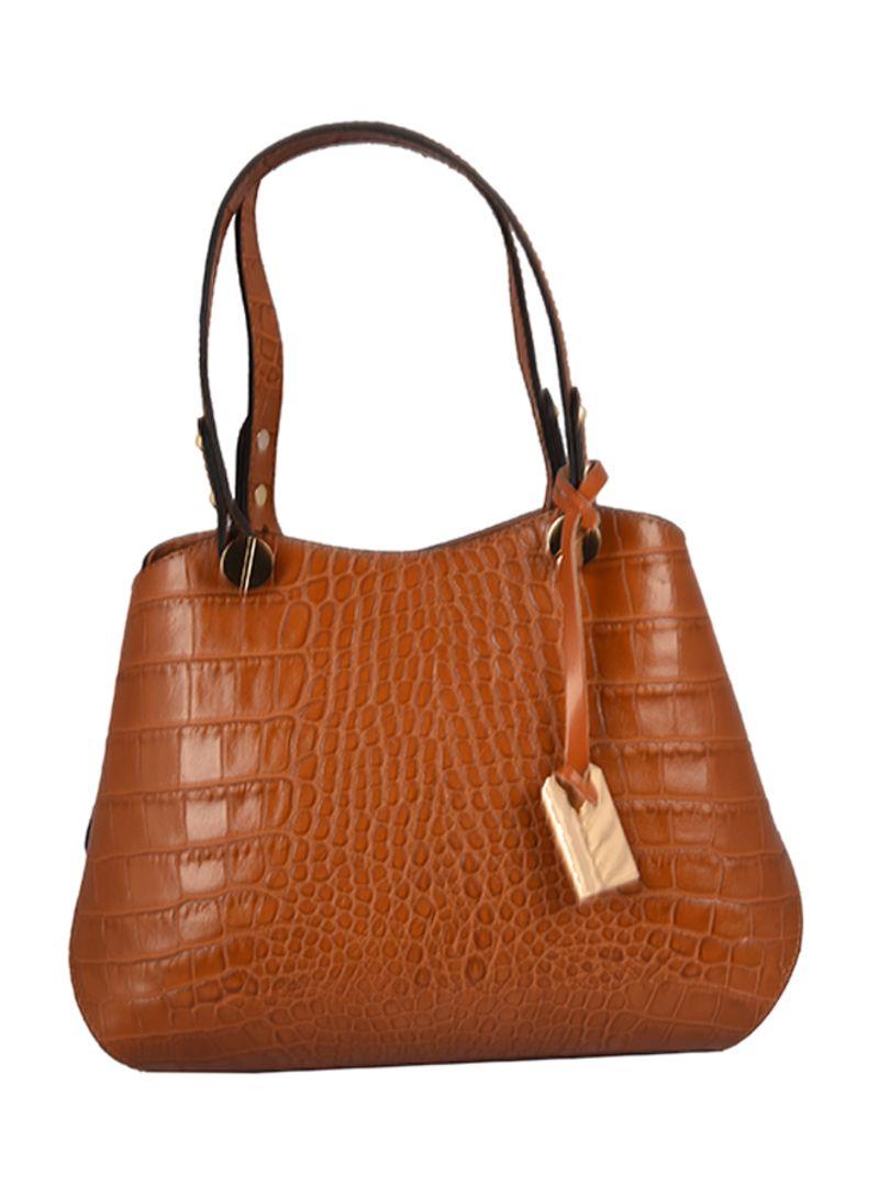 5c0212f32dd Shop Emilio Masi Cresy Crocodile Pattern Tote Bag online in Riyadh ...