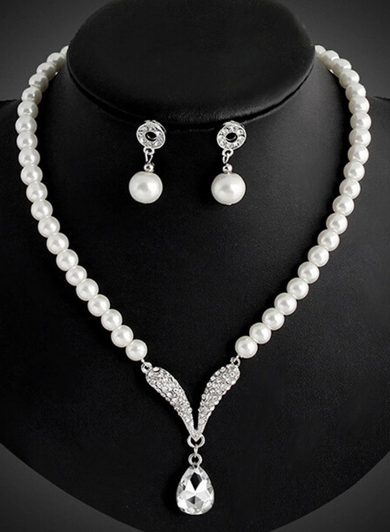711fa495b60 otherOffersImg v1528793328 N15097482A 2. Generic. Pearl Necklace And  Earring Jewellery Set