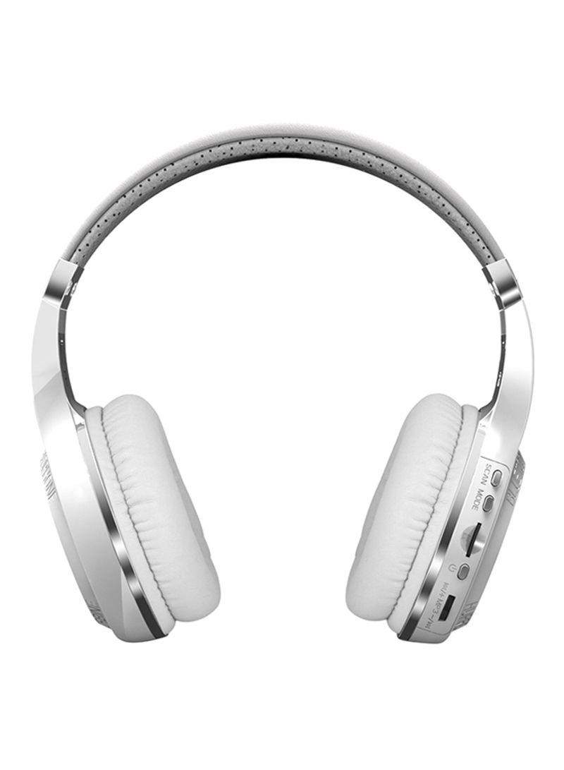 32d566f09d2 Shop Bluedio Turbine H Plus Over-Ear Bluetooth Headphone White ...