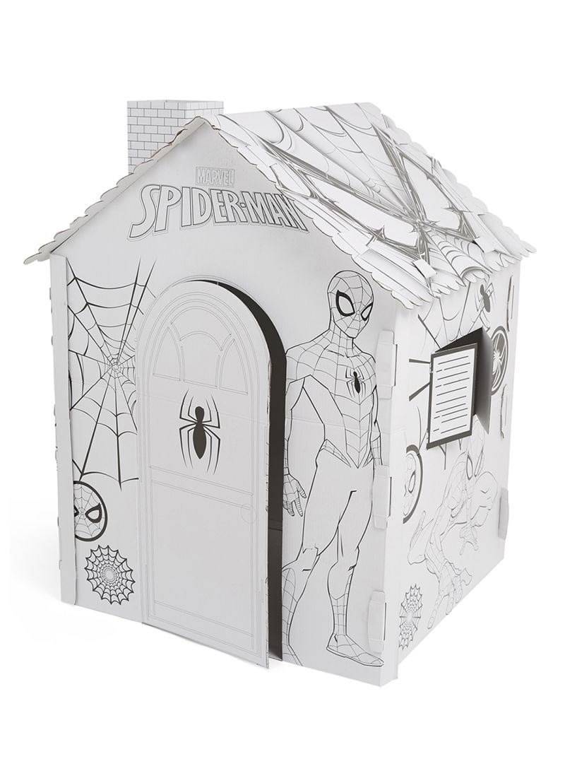 Shop GW Connect Spiderman Giant Cardboard Colouring ...