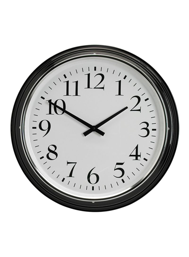 f63c9fec0 Shop Ikea Metal Analog Wall Clock Black online in Dubai, Abu Dhabi ...