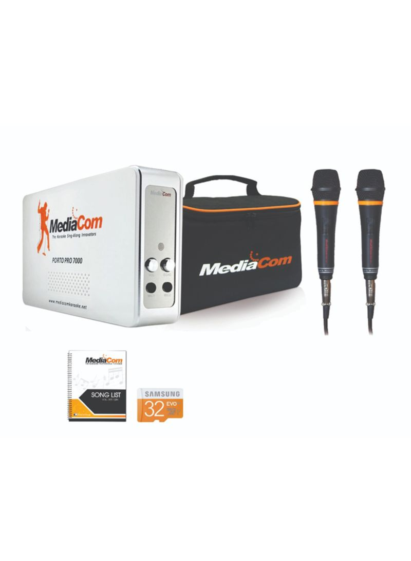 Shop MediaCom MCI Porto Pro 7000 Karaoke System With Microphone  Black/Silver online in Dubai, Abu Dhabi and all UAE