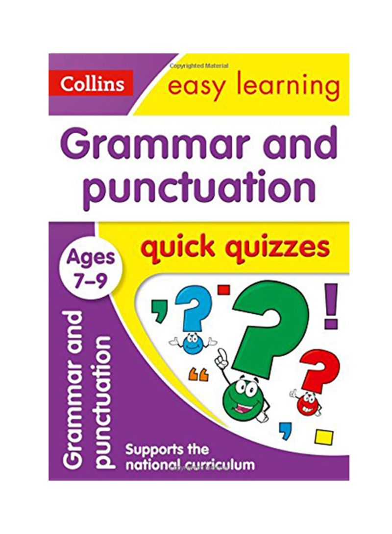 Shop Grammar And Punctuation Quick Quizzes: Ages 7-9 Paperback