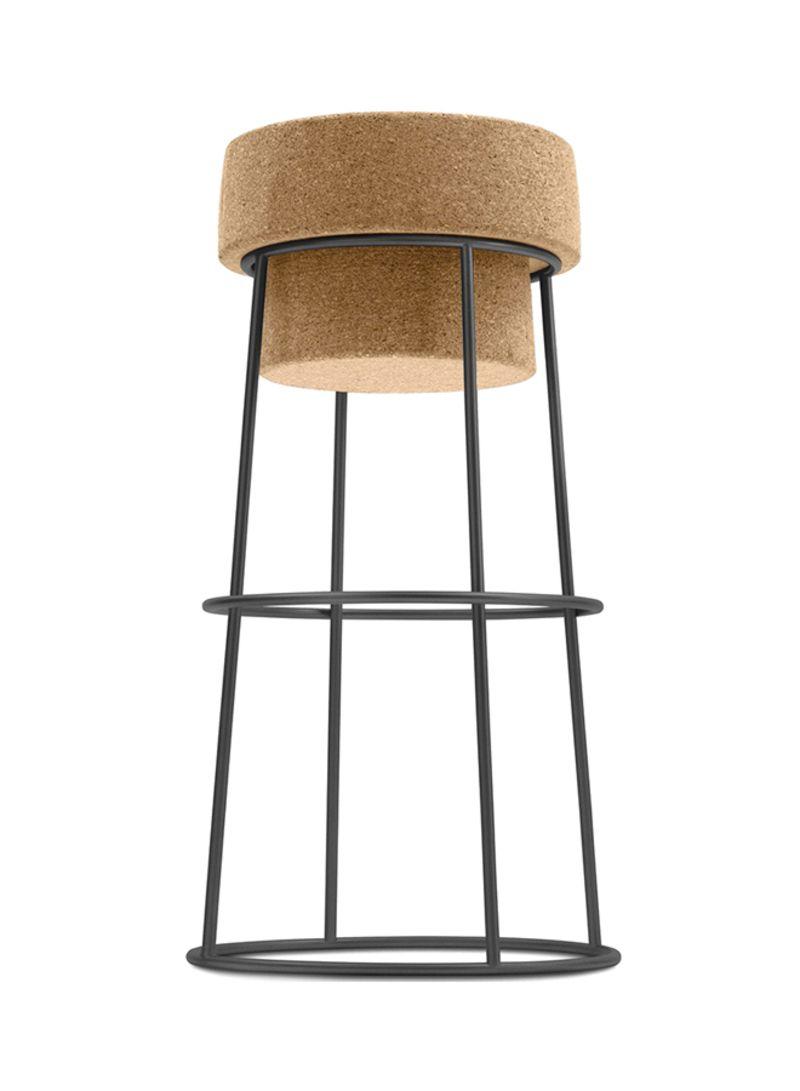 Swell Shop Ebarza Cork Bar Stool Black Beige Online In Dubai Abu Pabps2019 Chair Design Images Pabps2019Com