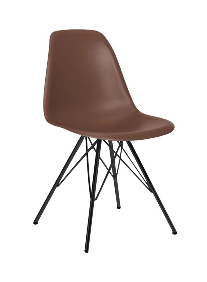 Shop ebarza Plastic Dining Chair Brown/Black online in Dubai, Abu