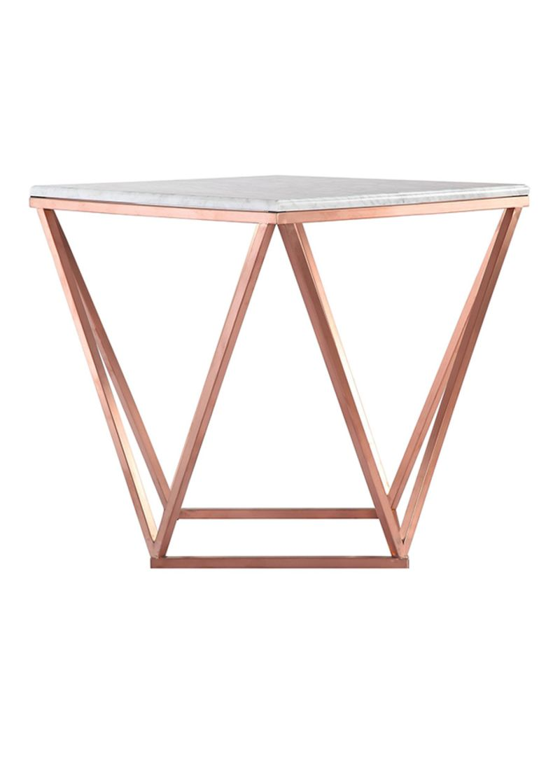 Picture of: Shop Ebarza Natural Marble Table White Rose Gold 55x52x55centimeter Online In Dubai Abu Dhabi And All Uae