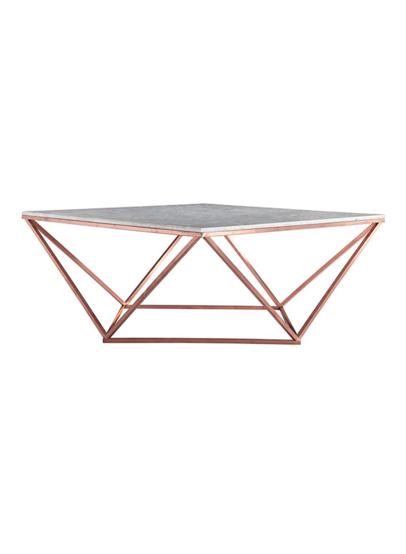 Shop Ebarza Natural Marble Table White Rose Gold 100x45x100centimeter Online In Dubai Abu Dhabi And All Uae