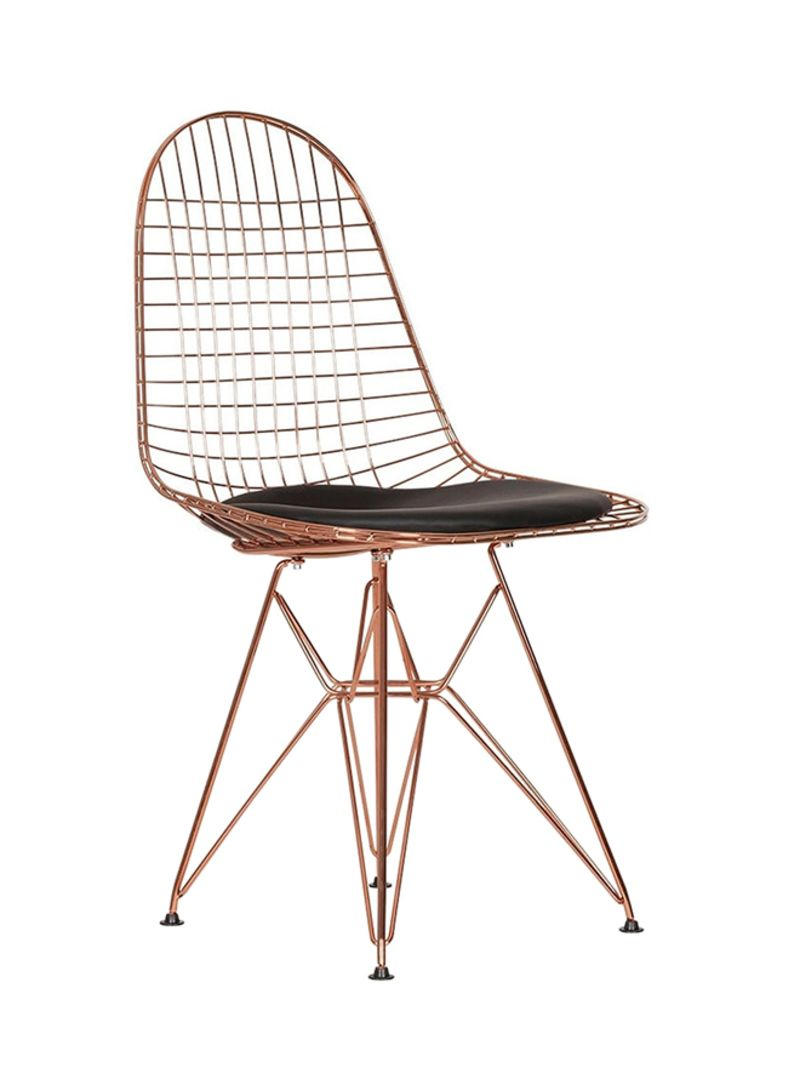 Shop ebarza Steel Wire Chair With Cushion Gold/Black online in