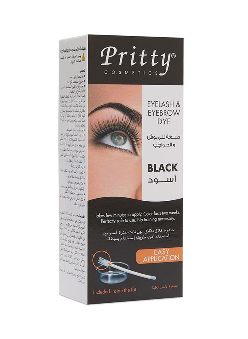 Shop Pritty Eyelash And Eyebrow Dye Kit Black online in Dubai, Abu Dhabi  and all UAE