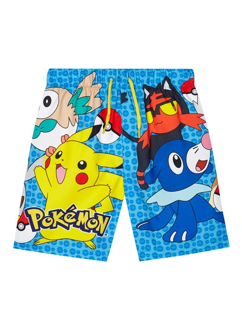 c8ea70bf85f74 Shop Debenhams Pokemon Print Swim Shorts Multicolour online in Egypt