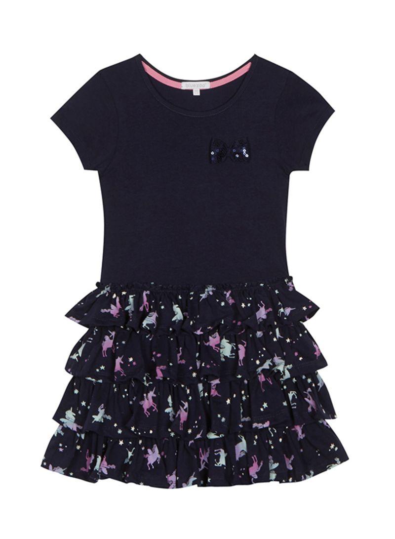 4fe581ea8945 Shop Debenhams Bluezoo Unicorn Print Rara Dress Navy online in Dubai ...
