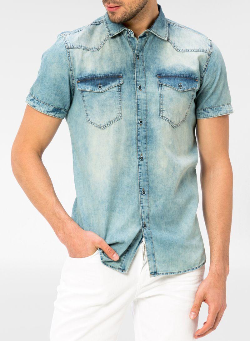 cca4e4b44 تسوق إل سي وايكيكي وقميص جينز بلون كاحت أزرق أونلاين في السعودية