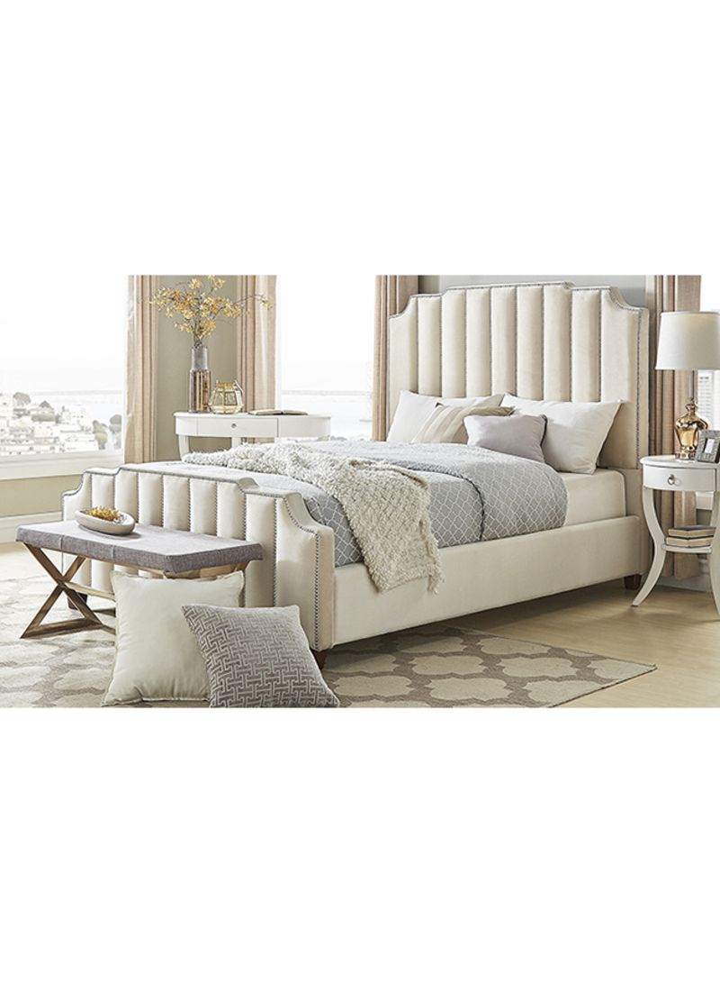 Shop A To Z Furniture Chareau Upholstered Nailhead Bed Without