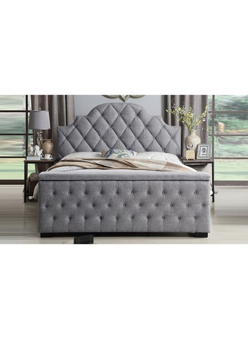 Shop A To Z Furniture Footboard Storage Bed With Mattress Grey White