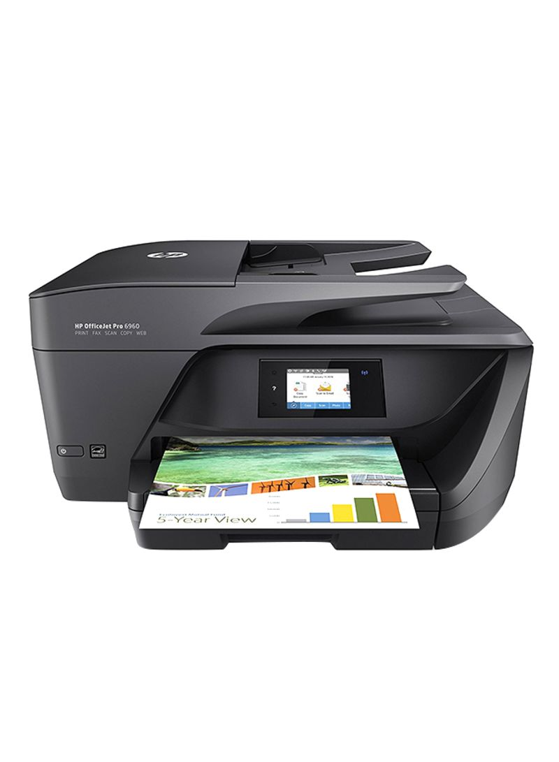 Shop HP OfficeJet Pro 6960 All-in-One Printer With  Print/Copy/Scan/Fax/Wi-Fi Function Black online in Dubai, Abu Dhabi and all  UAE