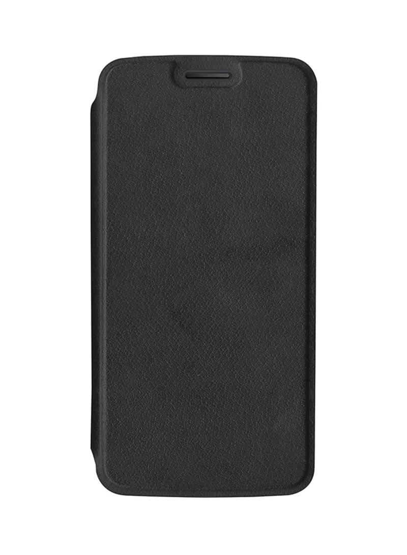 the best attitude 74ddb f0a23 Shop Motorola Polyurethane Flip Case Cover For Motorola Moto E Plus ...