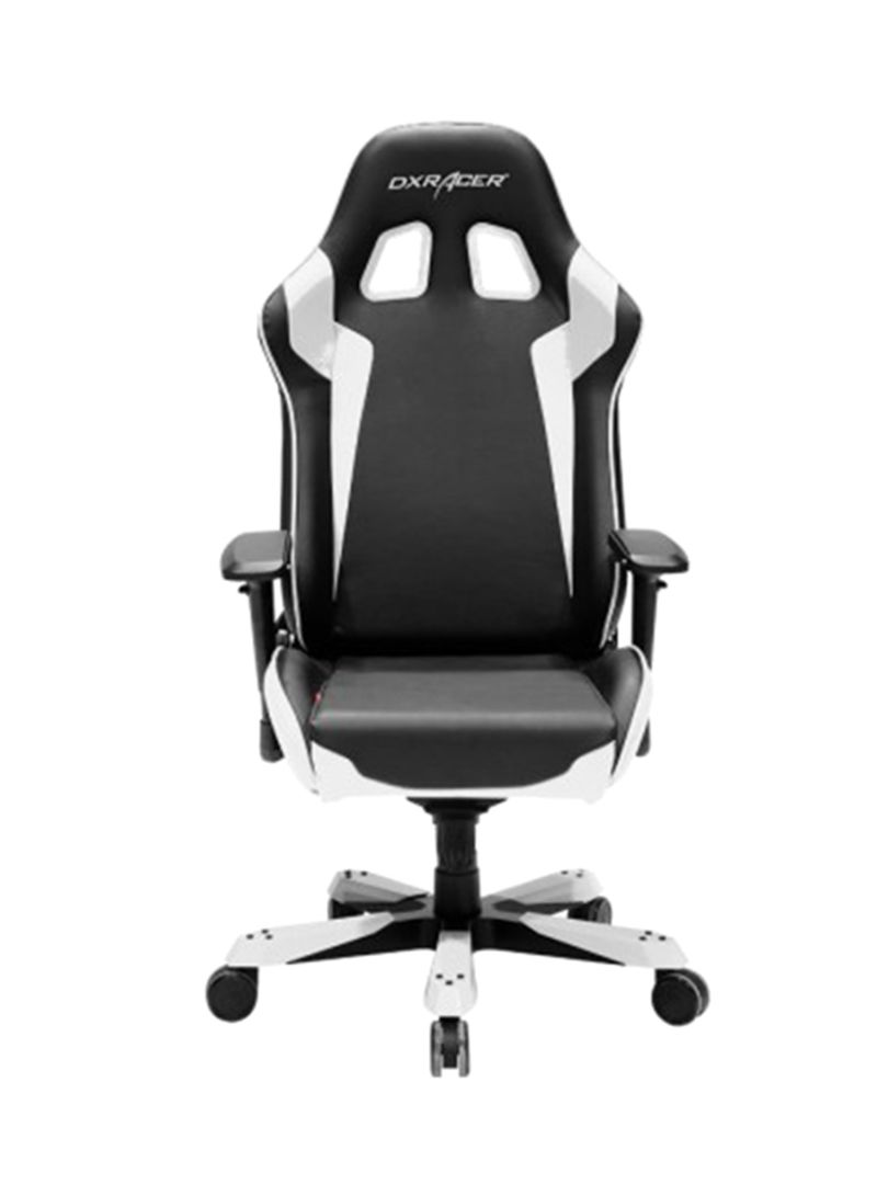 Super Shop Dxracer King Series Gaming Chair Black White 73X37X37 Centimeter Online In Riyadh Jeddah And All Ksa Machost Co Dining Chair Design Ideas Machostcouk