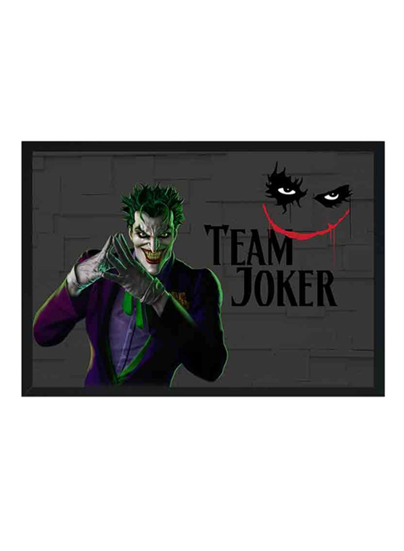 Shop Lowha Team Joker Wooden Framed Wall Art Painting Black Purple