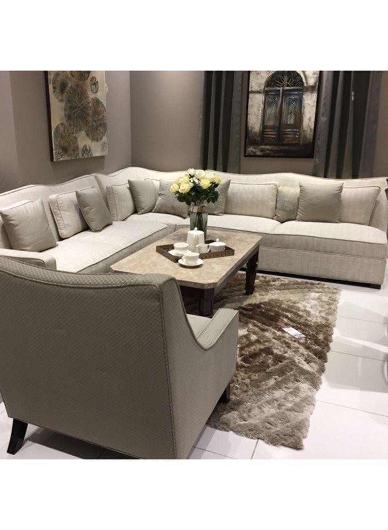 Miraculous Shop Homes R Us Samson Corner Sofa And Chair Beige 308X85X290 Centimeter Online In Dubai Abu Dhabi And All Uae Download Free Architecture Designs Pushbritishbridgeorg