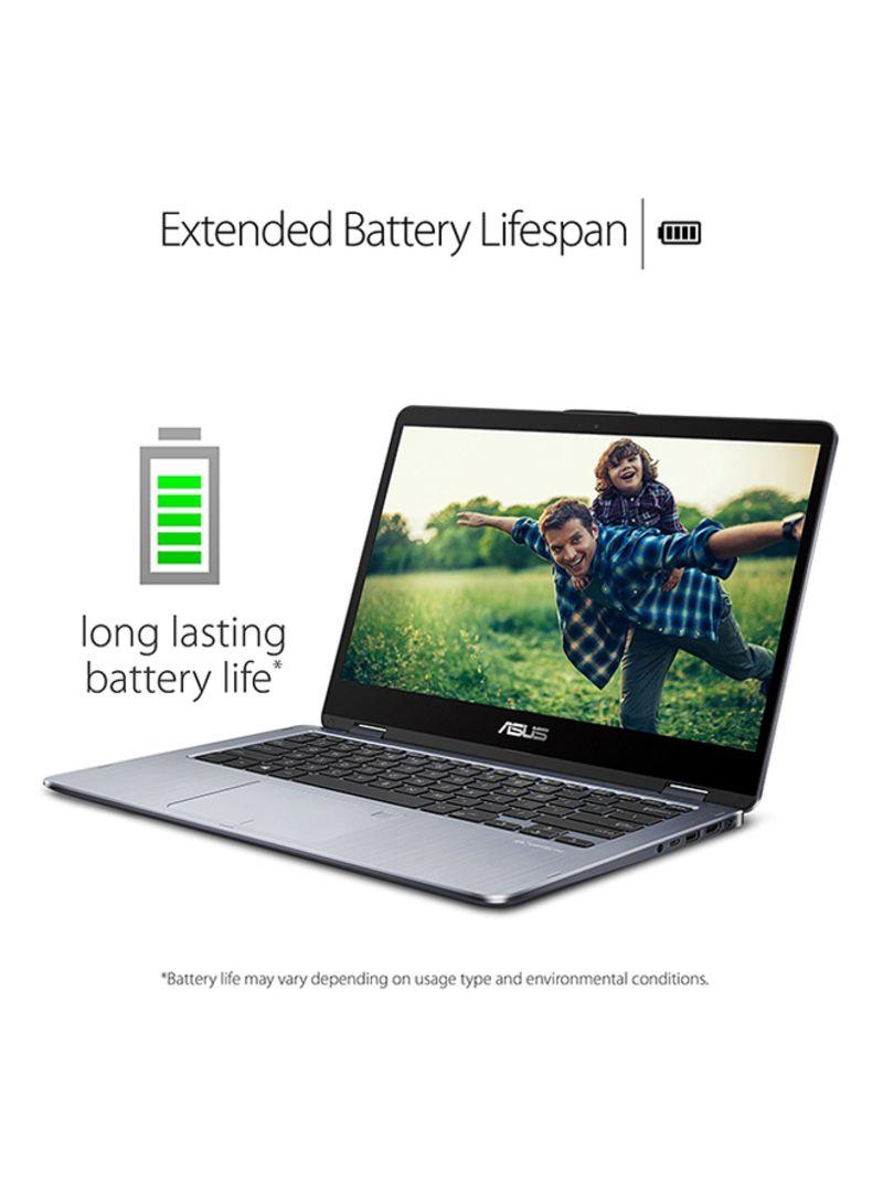 Shop ASUS VivoBook Flip 14 TP410UR With 14-Inch Display, Core i7  Processor/8GB RAM/1TB HDD+128GB SSD Hybrid Drive/2GB NVIDIA GeForce 930MX  Graphic