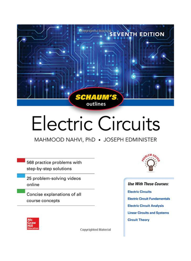 Shop Schaums Outline Of Electric Circuits 7 Paperback Online In Design