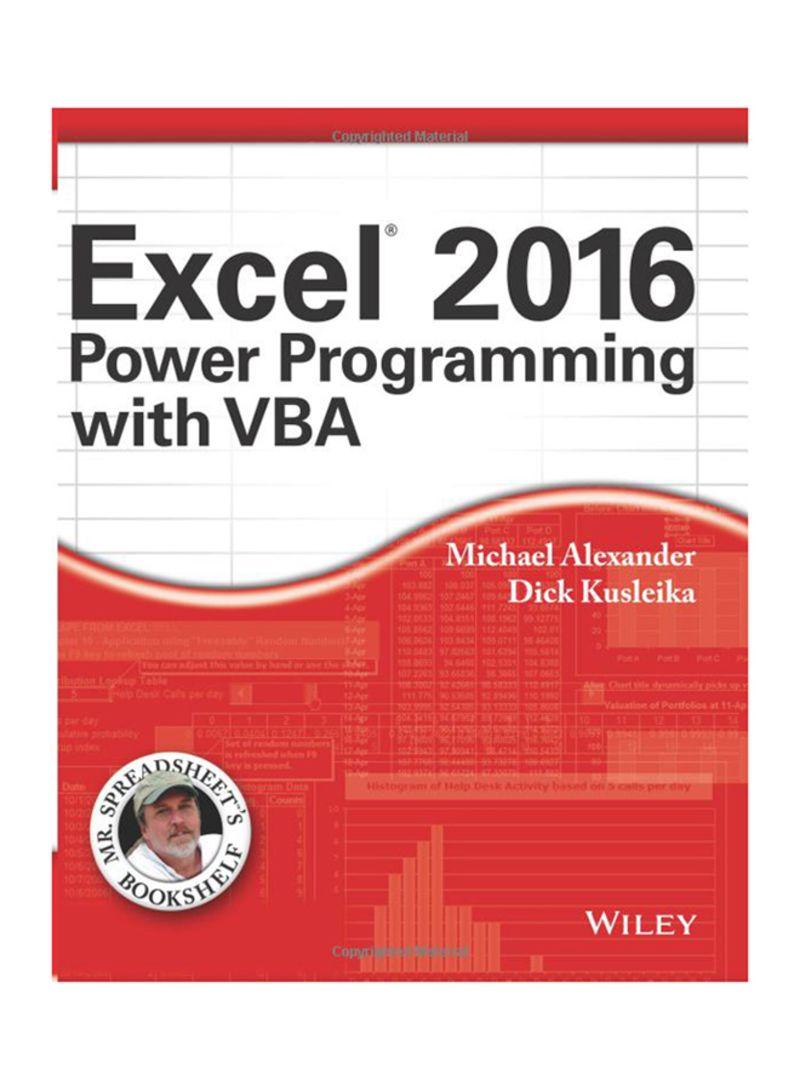 تسوق وExcel 2016 Power Programming With VBA Paperback أونلاين في الإمارات