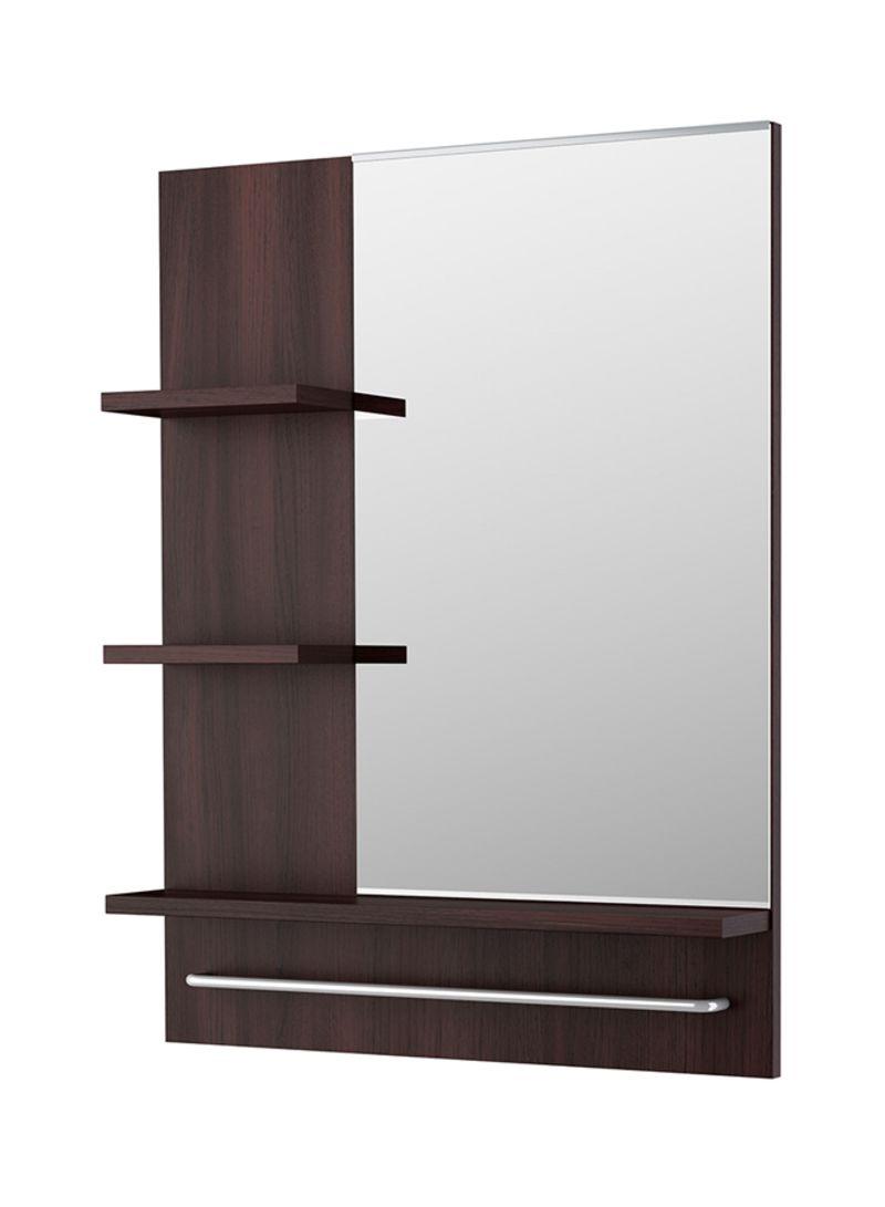 Wall mirror shelf brown 60x11x78 centimeter