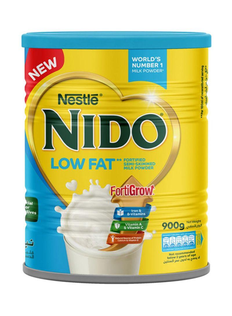 Shop Nido Low Fat Fortified Semi-Skimmed Milk Powder 900 g online in Dubai,  Abu Dhabi and all UAE