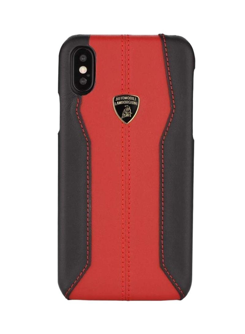 new style 64c77 3cd94 Shop Lamborghini Leather Huracan-D1 Case Cover For Apple iPhone X Red/Black  online in Dubai, Abu Dhabi and all UAE