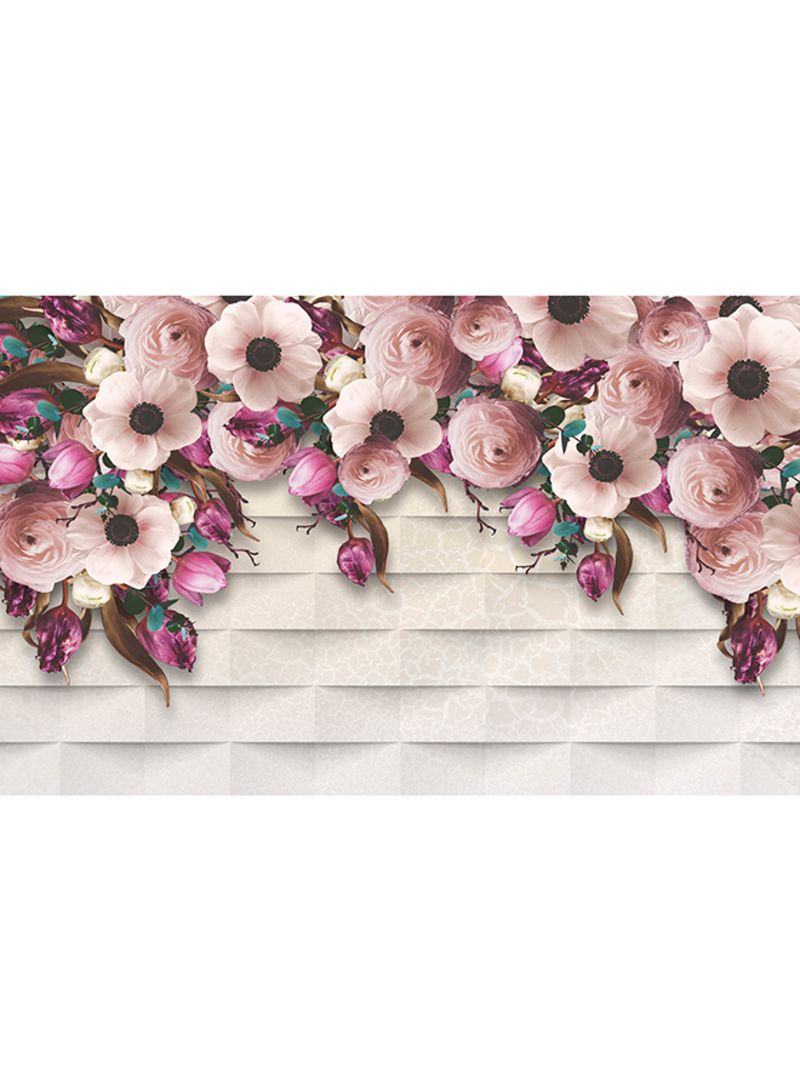 Shop ROSE HAND 3D Floral Design Wallpaper Multicolour 1