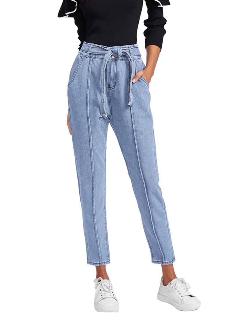 d54768c71 تسوق زيري سوق وبنطلون جينز بحزام خصر مطرز أزرق أونلاين في السعودية