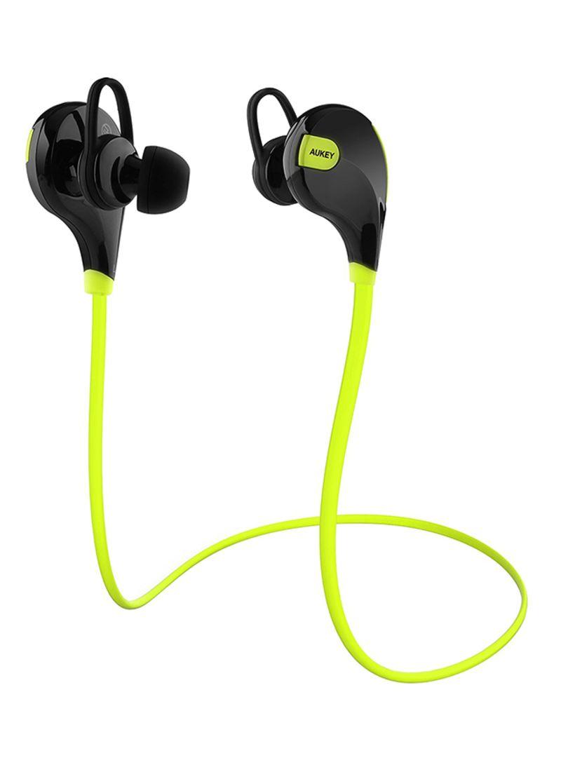 ecae843fafc Shop Aukey Wireless Sport In-Ear Earphones Green/Black online in ...