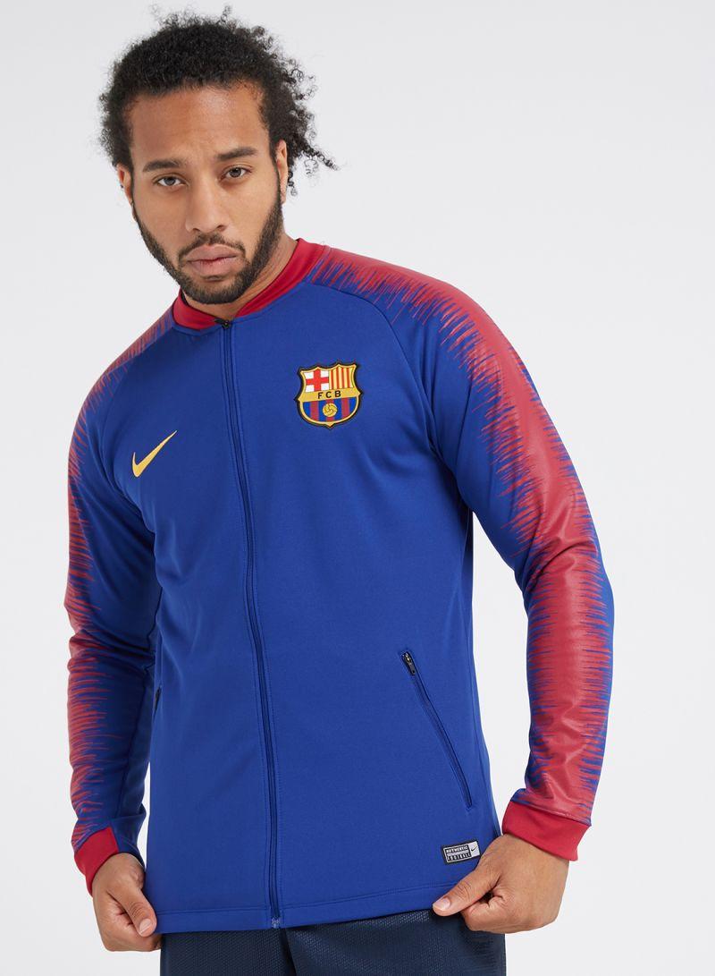 83b88f994 Shop Nike FC Barcelona Anthem Soccer Jacket Blue Red online in Dubai ...