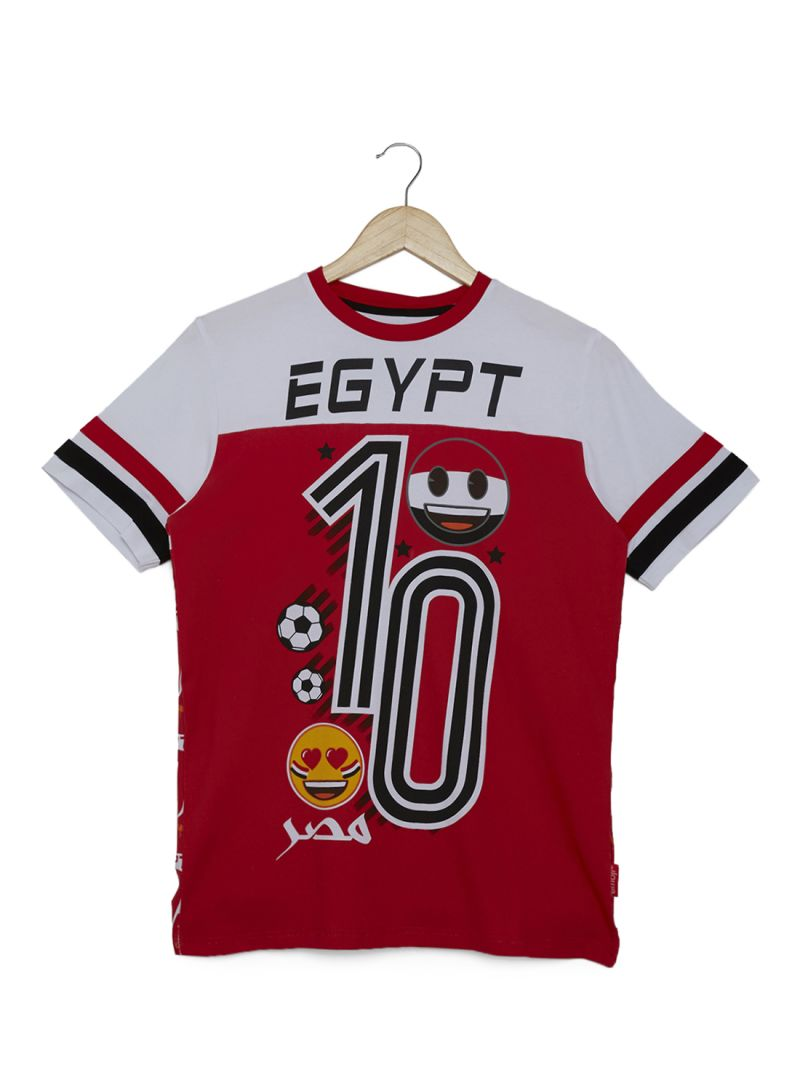 Shop Emoji Egypt World Cup T Shirt Redwhite Online In Dubai Abu
