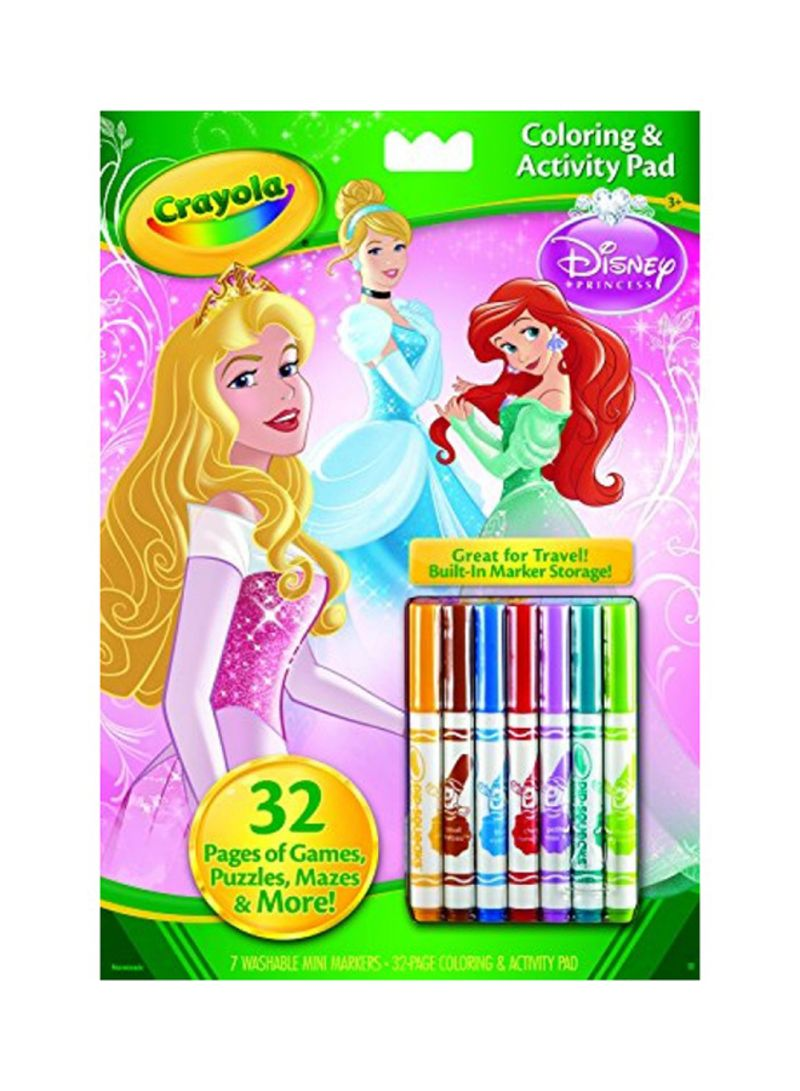 Crayola Disney Princess Coloring and Activity Book with Markers ...