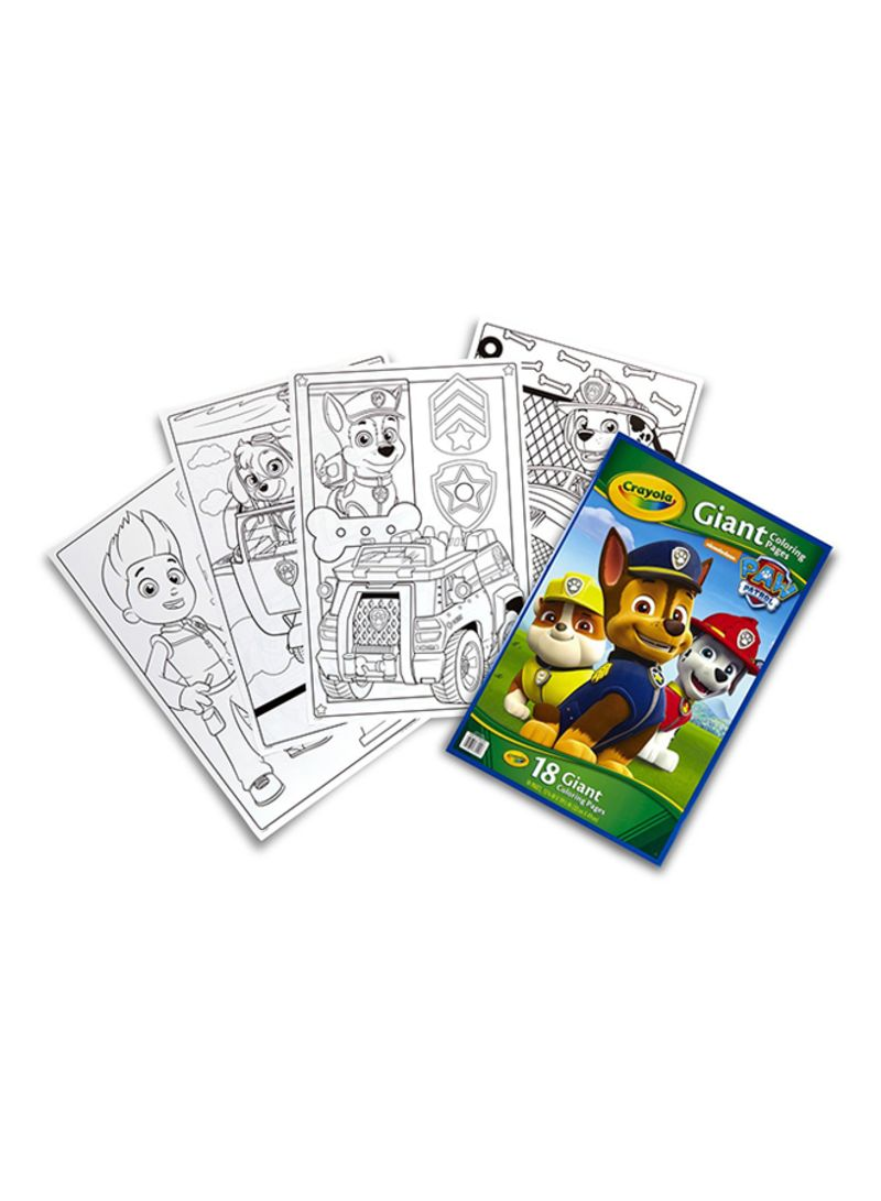 Shop Crayola Paw Patrol Giant Coloring Pages online in Dubai, Abu Dhabi and  all UAE