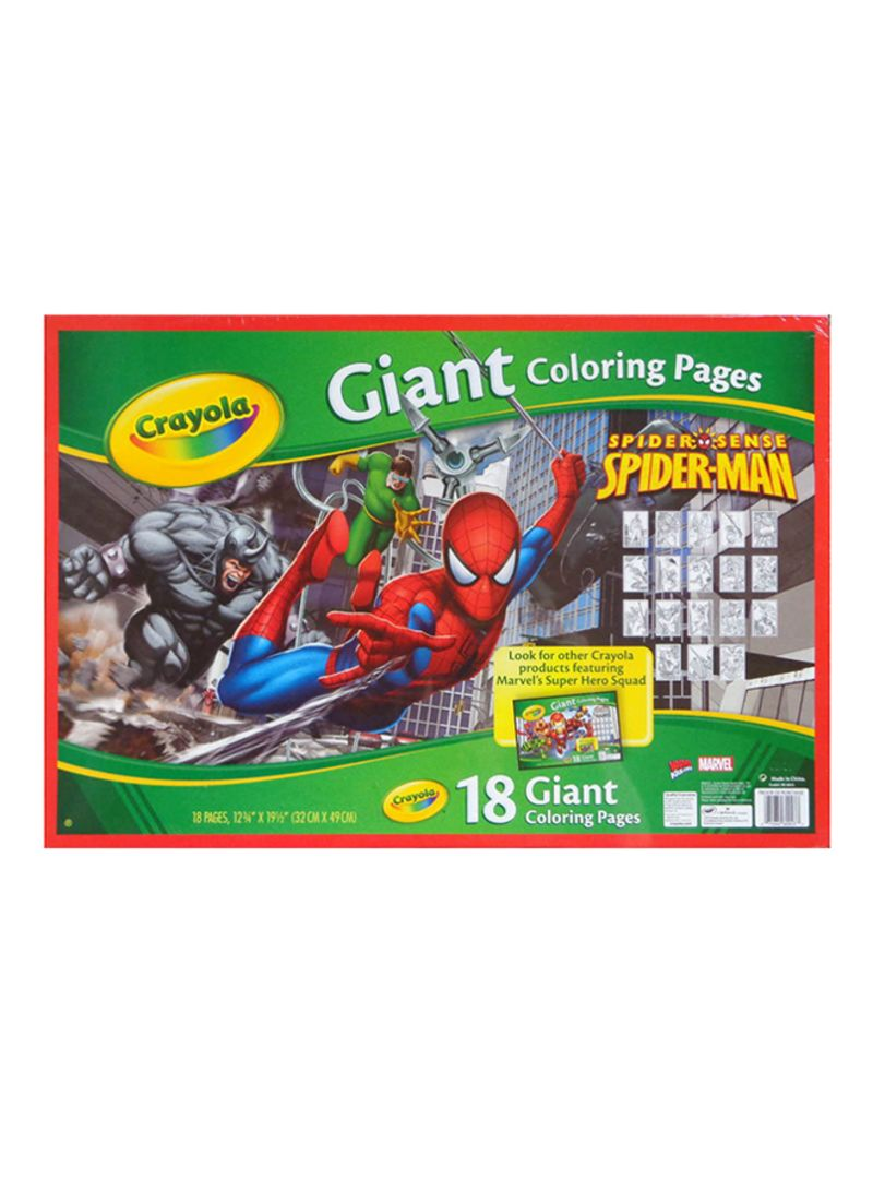 Shop Crayola Spiderman Giant Coloring Pages Online In Riyadh